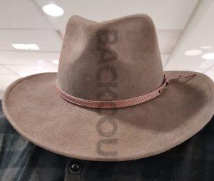felt hat brown western style