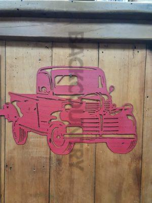 red Truck laser cut metal wall art