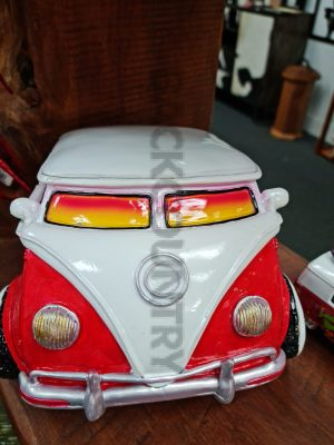 red vw combie toilet roll holder
